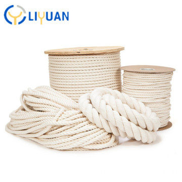 3 strand 100% cotton rope for sale